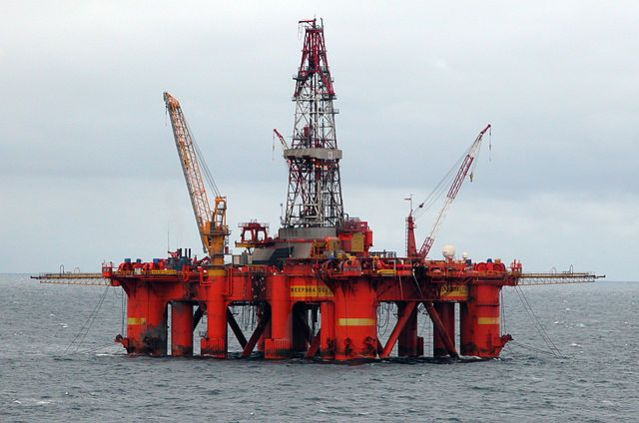Oil platform in the North Sea