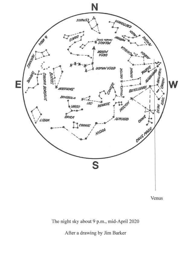 April 2020 Map astronomy