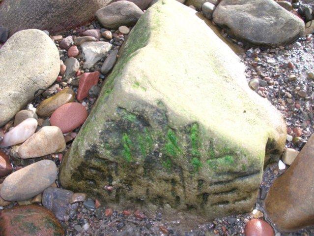 stone on beach Bell