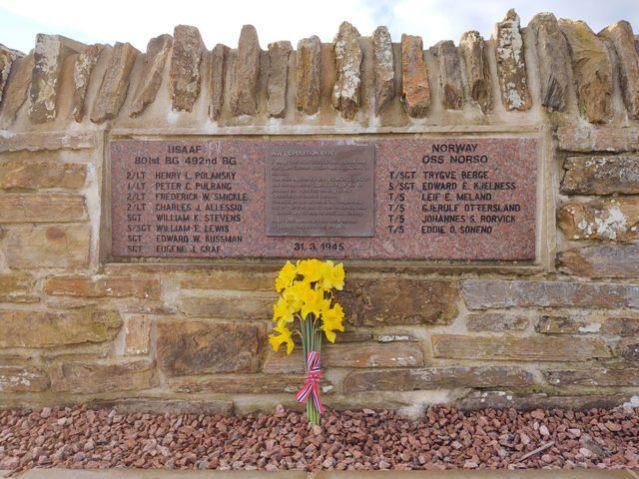 US Liberator bomber memorial Photo Leslie Burgher