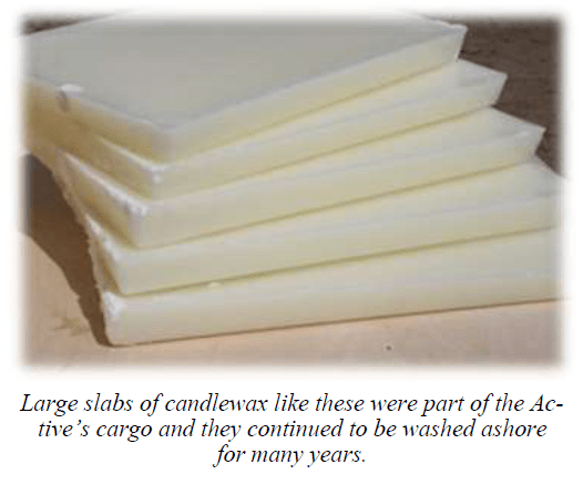 large slabs of candle wax