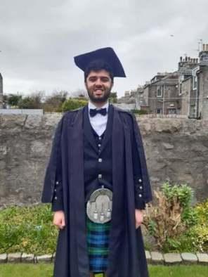 Callum Eddie Aberdeen University graduate