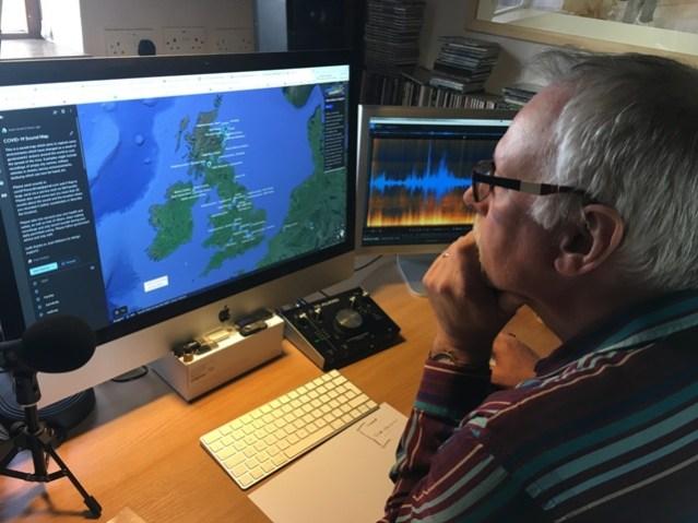 Pete Stollery COVID soundmap Aberdeen University