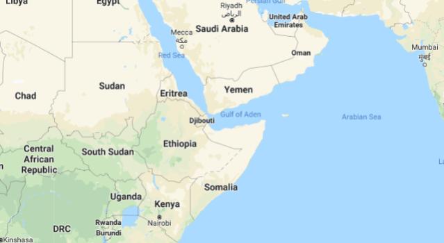 Horn of Africa google maps