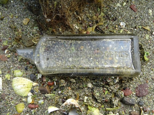 syrup of figs bottle beach find Dingieshowe credit Bell