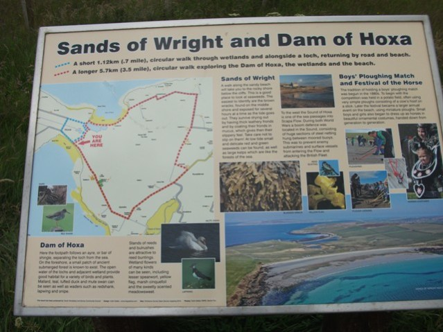 Sands of Wright Dam of Hoxa walk credit Bell