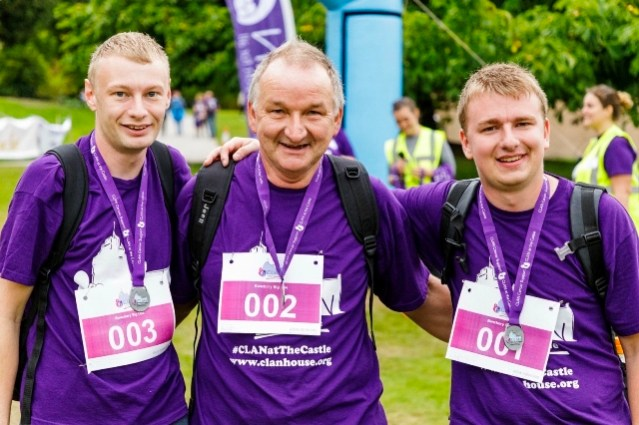 Fraser, Mike, Ross - left to right CLAN charity walk