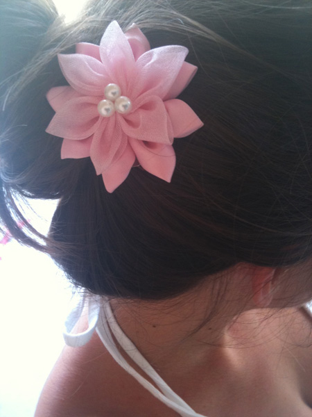 Handmade Fabric Flower Hair Accessories Ornaments To