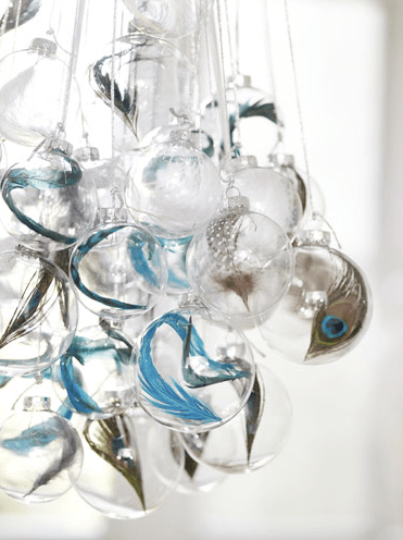 25 ideas for decorating clear glass ornaments  The