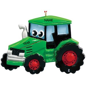 Tractor Toy Personalised Christmas Ornament