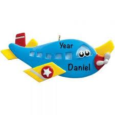 Novelty Airplane Personalised Christmas Decoration