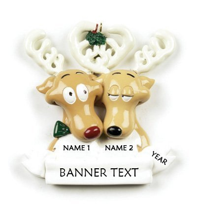 Reindeer-Couple-Family-2-Personalised-Christmas-Ornament