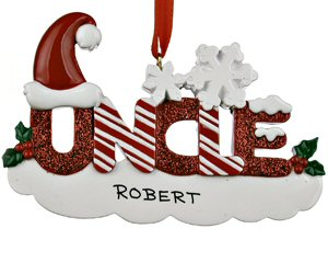 Personalised Uncle Christmas Ornament
