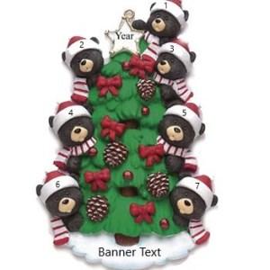 Bear Tree 7 Personalised Christmas Ornament