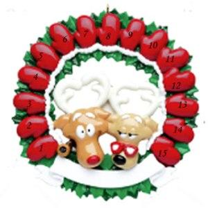 Grandparents Mitten Wreath 15 Personalised Christmas Ornament