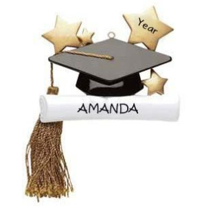 Graduation Cap Personalised Christmas Ornament