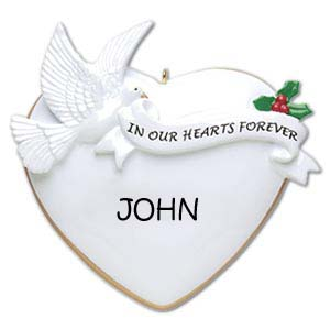 In Our Hearts Forever Personalised Christmas Ornament