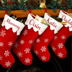 Personalised Christmas Stocking – Snowflake