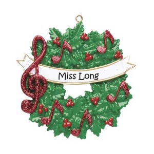 Music Wreath Personalised Christmas Ornamant
