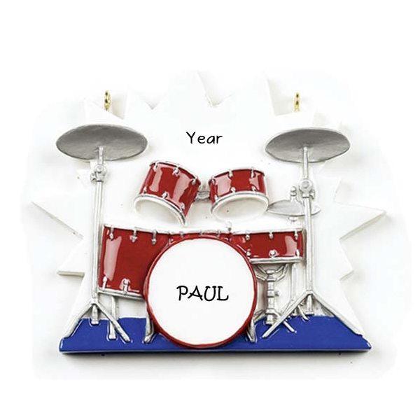 Drums Personalised Ornament 1