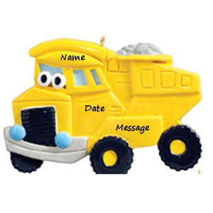 Dump Truck Toy Personalised Christmas Ornament