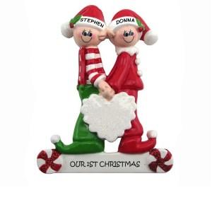 Elf couple ornament
