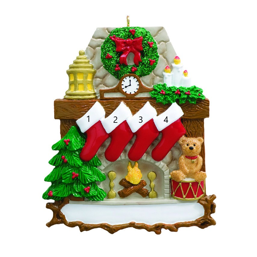 Fireplace Stocking 4 Ornament