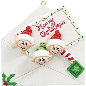 Christmas Letter 3 Personalised Christmas Ornament