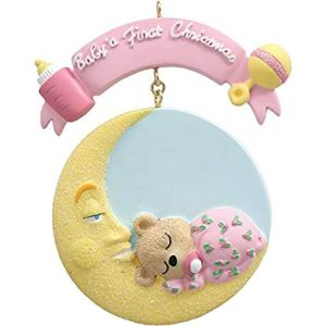 Baby Moon Girl Personalised Ornament