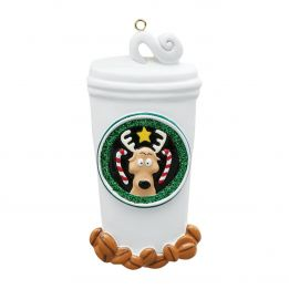 Coffee Lover Personalised Christmas Ornament
