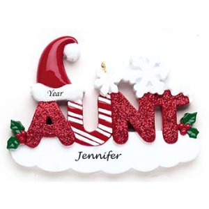 Aunt personalised Christmas Ornament