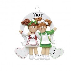 Friends-sister 2 personalised Christmas Ornament