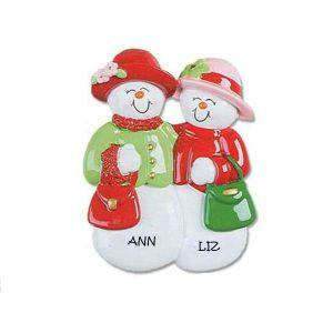Snow Friends Personalised Christmas Ornament