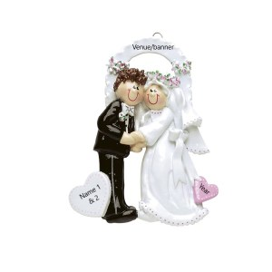 Wedding Couple Arch Personalised Christmas Ornament