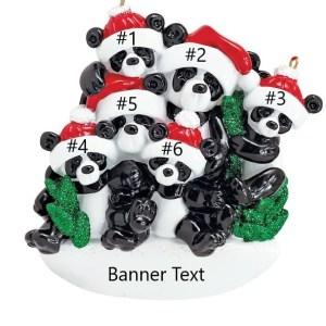 Bamboo Panda 6 Personalised Christmas Ornament