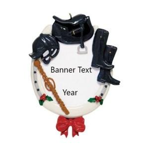 English Horseshoe Personalised Christmas Ornament