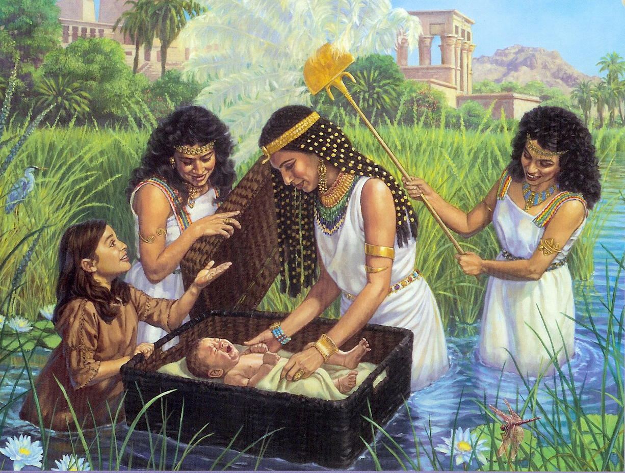 Baby Moses Foreshadowing Baptism