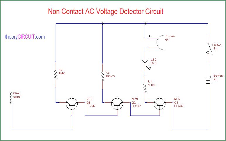 Non Contact AC Voltage Detector Circuit