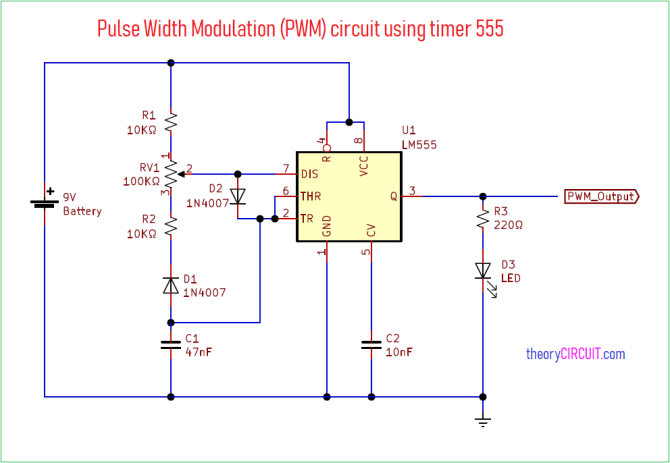 pwm circuit diagram  schematic wiring diagram electron