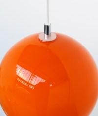 ORANGE Large Glass Lamp Shade Globe 30cm 1960's Retro | eBay