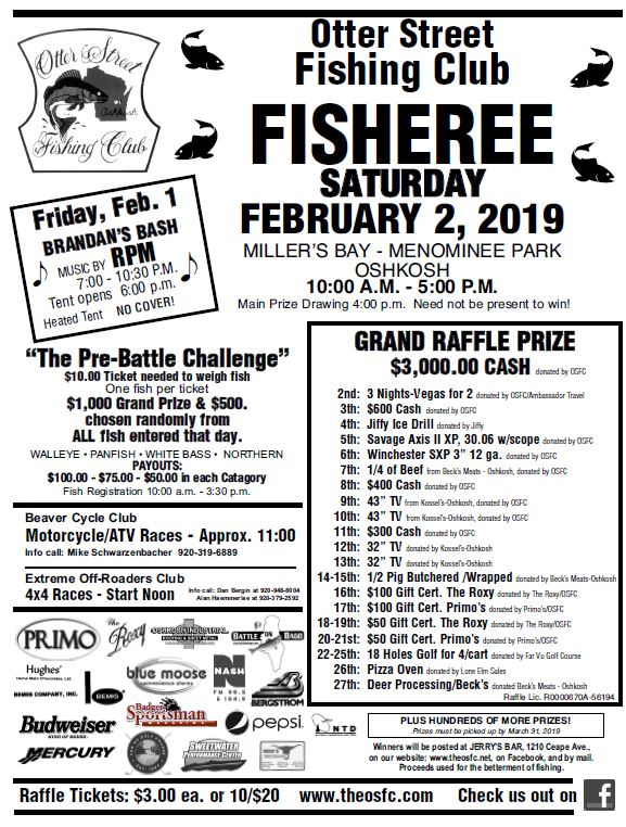 The 2019 #OSFC Winter Fisheree Weekend is fast approaching