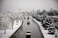 Iran, Kerman Province, Kerman City Winter Snow Snowball 02