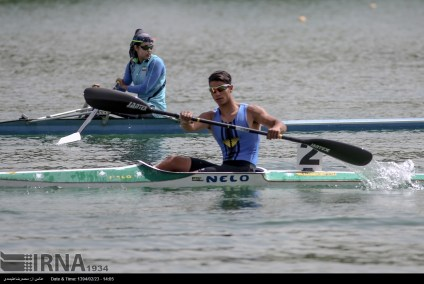Tehran, Iran - Iran's rowing team training at Lake Azad Sports Complex 12