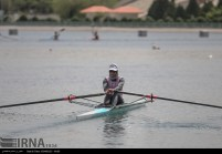 Tehran, Iran - Iran's rowing team training at Lake Azad Sports Complex 16
