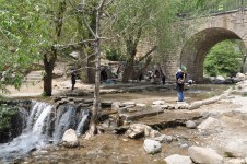 Hamedan, Iran - Ganjnameh's waterfall next to the cuneiform inscriptions of Darius and Xerxes - 7 - Photo credits Panoramio's user Mauro - Iran 2013