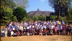 Group photo at Prambanan Temple during the 2015 IOAA (International Olympiad on Astronomy and Astrophysics) held in Semarang, Indonesia