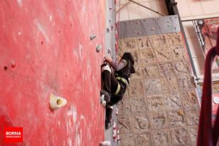 Iranian youth and junior national climbing team members training in Hamedan - 2015 July - 19