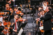 Tehran Symphony Orchestra and China Philarmonic Orchestra performing together on August 2015 in Tehran, Iran 15