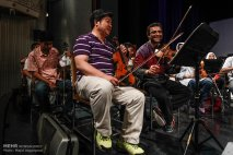 Tehran Symphony Orchestra and China Philarmonic Orchestra performing together on August 2015 in Tehran, Iran 3