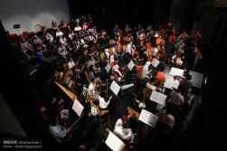 Tehran Symphony Orchestra and China Philarmonic Orchestra performing together on August 2015 in Tehran, Iran 7